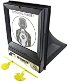 SportPro Polymer 2 in 1 BB Net Catcher Target with 20 Paper and Metal Animal Targets for AEG GBB Airsoft – Black