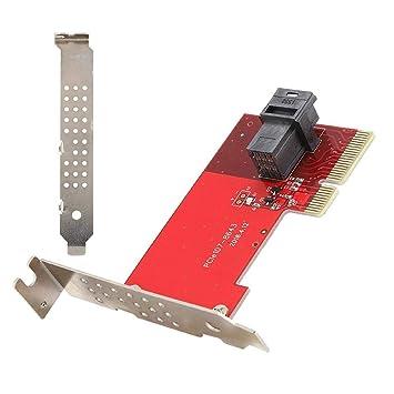 Tarjeta PCIe 3.0 X4, Tarjeta adaptadora de Disco Duro NVMe U.2 SSD ...