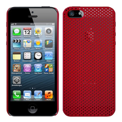 RT-TRADING APPLE IPHONE 5 DESIGN SCHUTZHÜLLE HÜLLE HARD CASE COVER TASCHE IN ROT