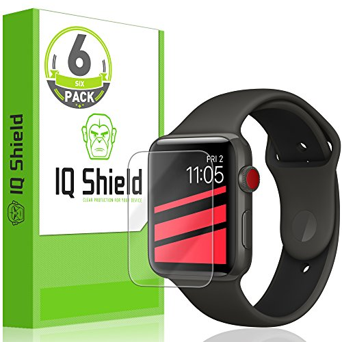 Apple Watch Screen Protector (42mm)(Apple Watch Nike+, Series 3/2/1 Compatible)(6-Pack), IQ Shield LiQuidSkin Full Coverage Screen Protector [HD Clear Anti-Bubble Film]