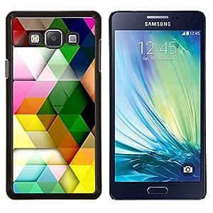 YiPhone /// Prima de resorte delgada de la cubierta del caso de Shell Armor - Patrón Polígono colores pastel colorido 3D - Samsung Galaxy A7 A7000