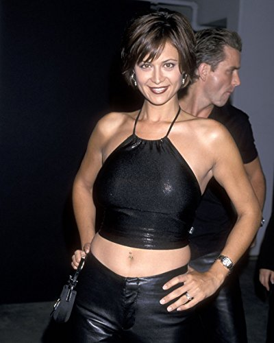 Catherine Bell modeling black halter top 8 inch by 10 inch PHOTOGRAPH TL
