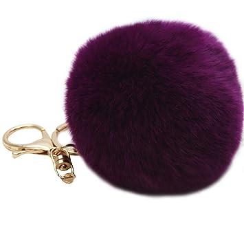 Pom Pom Keyring Fluffy Keyring Balls Keyring Bag Charms Cellphone Charm Bag  Pendant Keychain(Pusheng 862ffe9f840a