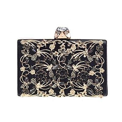 Minicastle Womens Noble Evening Clutch Bag Wedding Purse Bridal Prom Handbag Party Bag