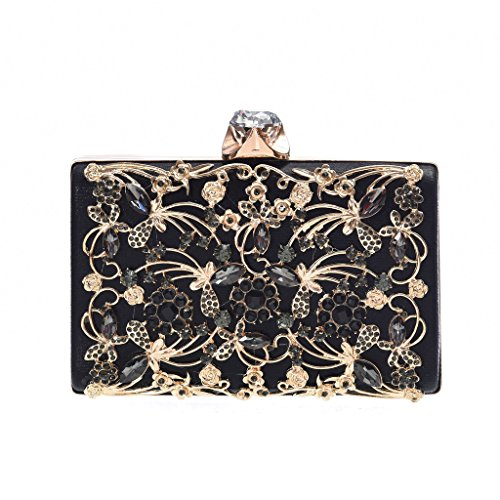 Minicastle Womens Noble Evening Clutch Bag Wedding Purse Bridal Prom Handbag Party Bag