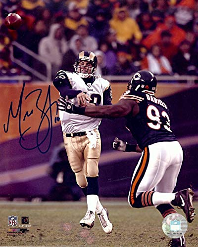 Marc Bulger Signed Autographed 8X10 Photo Rams Throwing vs. Bears -