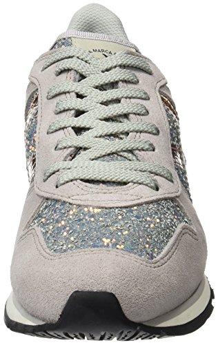 Munich Massana, Zapatillas para Mujer Gris (Glitter Rosado)