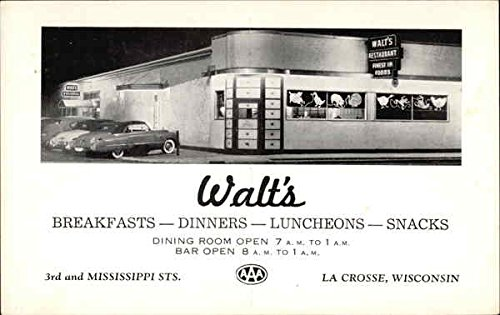 Amazon Com Walt S Restaurant La Crosse Wisconsin Original