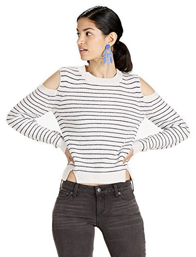 Natural Stripe Shirt - Lucky Brand Women's Cold Shoulder Sweatshirt Natural Multi Medium