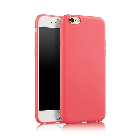 LAMEIDA Funda iPhone 6 iPhone 6s Apple Funda Carcasa- 4.7 Pulgada Shock-Absorción y Anti-Arañazos de Silicona Rosa Amarillo Verde Negro