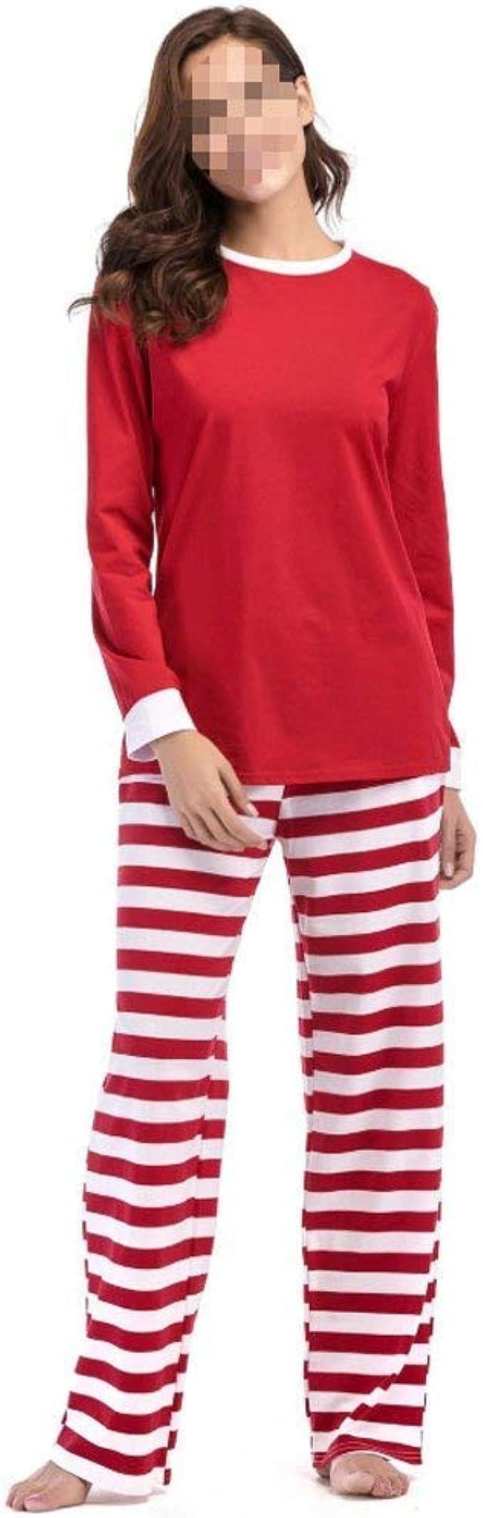 Pijamas De Mujer Pantalones De Manga Chándal Rayas Larga Casual ...