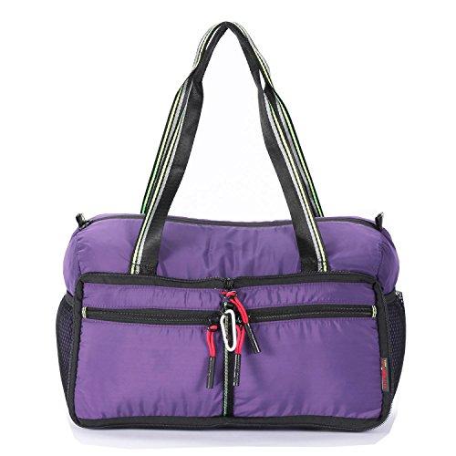 Waterproof Foldable Travel Bag Duffle Bag Handbag Clothes Organizer Storage Single Shoulder Bag Crossbody Bag Lightweight Large Carry Luggage Sports Gym Tote Bag (28 Inch Duffel Totes)