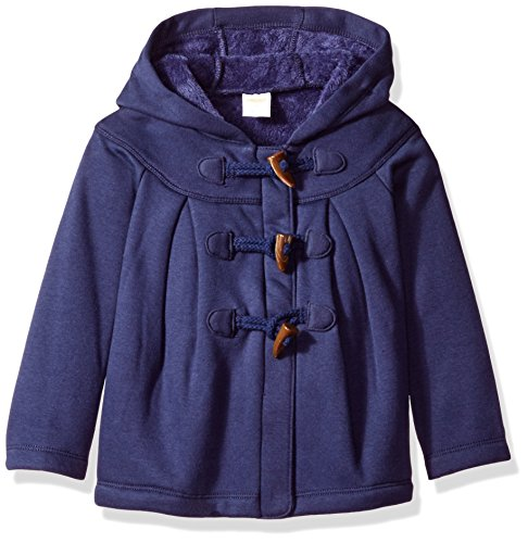 Gymboree Toddler Girls' Navy Cozy Fleece Jacket with Toggles, Oxford Blue, 3T