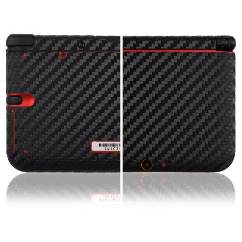 Skinomi TechSkin - Nintendo 3DS XL Screen Protector + Carbon Fiber Full Body Skin / Front & Back Premium HD Clear Film / Ultra Invisible and Anti Bubble Shield