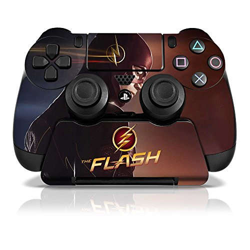 Controller-Gear-The-Flash-Looking-In-Time-PS4-Skin-Set-for-Controller-and-Controller-Stand-Multi-Color
