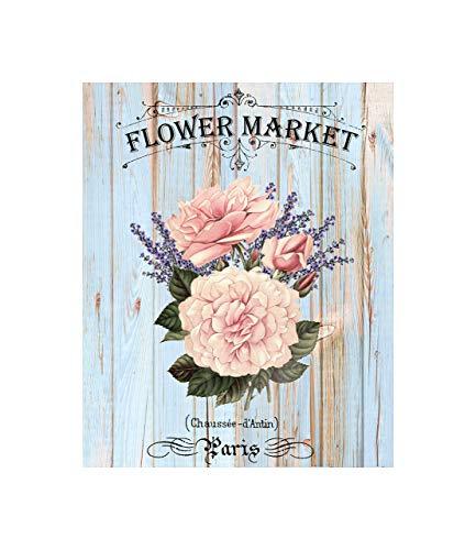 - Paris Flower Market Canvas Print