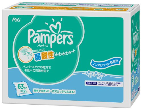Pampers Club Pack Refill Sheets 63 Sheets Fluffy X12 by Pampers
