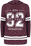 Product review for YoursClothing Womens Burgundy Varsity Slogan Print Hooded Sweatshirt, Plus Size 16 To 36