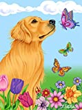 Golden Retriever – Best of Breed Butterfly House Flag Review