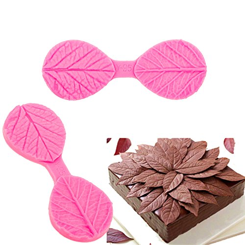 M0586 Leaf Texture Silicone Molds Leave Flower Petal Mold Cake Decorating Tools Fondant Decoration accessories