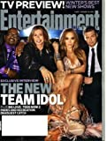 Entertainment Weekly January 14 2011 American Idol Judges on Cover (Interview Inside), TV Preview, Suzanne Collins/The Hunger Game