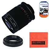 High-Power 500mm f/8.0 Telephoto Mirror Manual Lens for Canon Digital EOS Rebel T1i, T2i, T3, T3i, T4i, T5i, SL1, EOS 60D, EOS 70D, EOS 80D, 50D, 40D, 30D, EOS 5D, EOS1D, EOS5D III, EOS 6D, EOS 7D Digital SLR Cameras