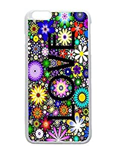 For Case HTC One M7 Cover White Case - Love The Flowers Patterned Protective Skin Hard For Case HTC One M7 Cover - Haxlly Designs Case