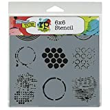 The Crafter's Workshop 6 x 6-inch Well Rounded Stencil