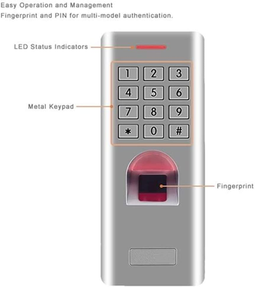 no RFID Function Betty Standalone Fingerprint Keypad Access Control Reader For Door Lock Gate Opener Access Control