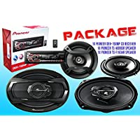 PACKAGE ! Pioneer DEH-150MP CD-Receiver + Pioneer TS-A6965R Car Speaker + Pioneer TS-F1634R Car Speakers