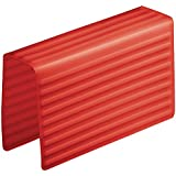 InterDesign Lineo Silicone Sink Divider Protector, Red