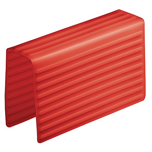 InterDesign Lineo Silicone Sink Divider Protector, Red ()