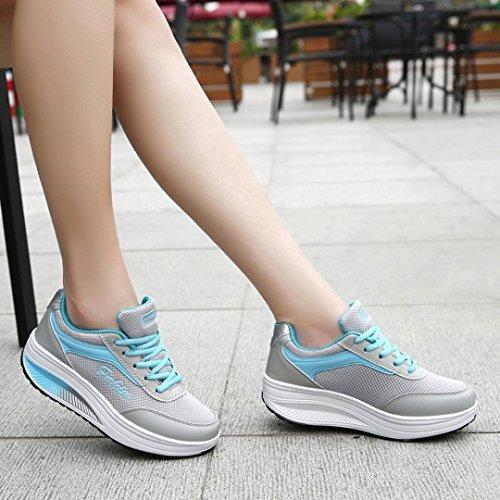 Chaussures Souple Fond Femmes Automne Stimulant Maille Bottes Zahuihuim Course De Sport Bleu Couleurs Mélangées Mode qRZCEw
