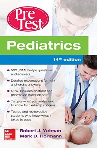 Pediatrics PreTest Self-Assessment And Review, 14th Edition - http://medicalbooks.filipinodoctors.org