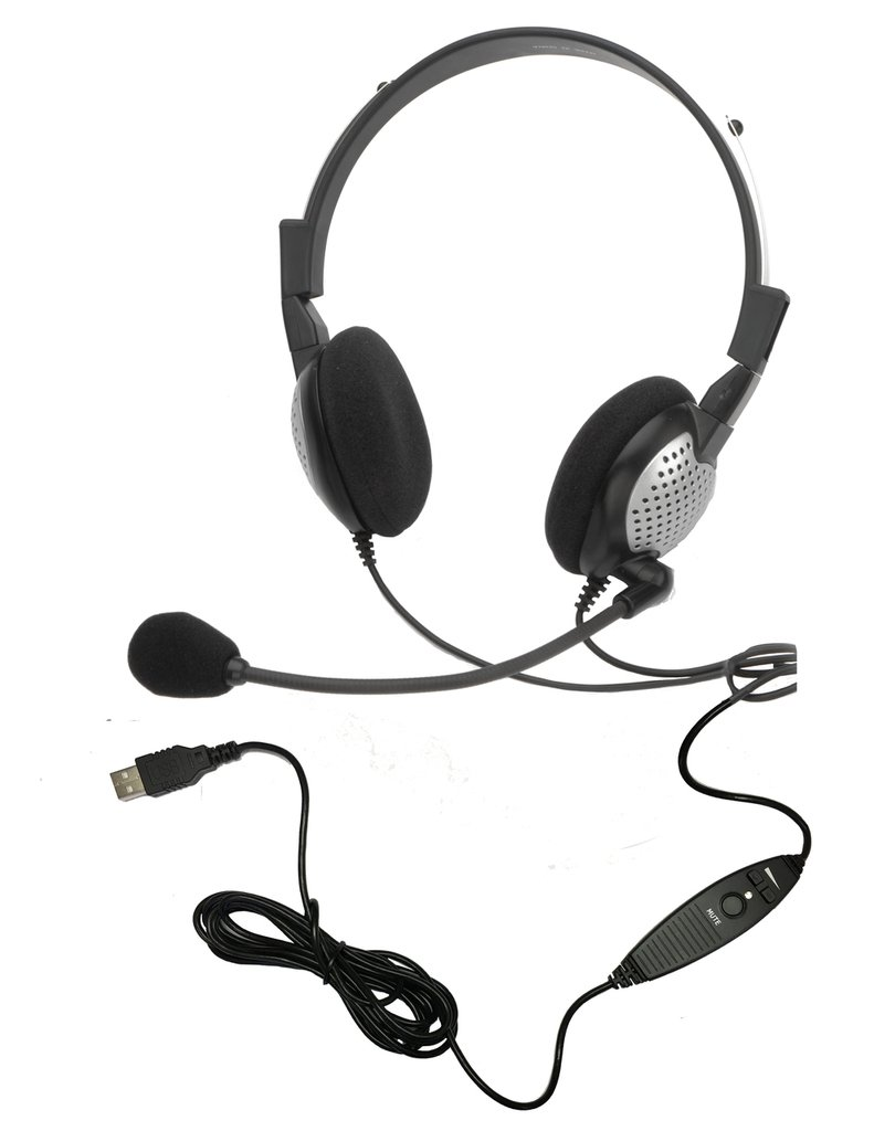 Andrea Communications C1-1022600-50 model NC-185 VM USB High Fidelity Stereo USB Computer Headset with Noise Canceling Microphone and Volume/Mute Controls by Andrea Communications