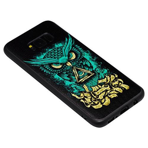 Funda Samsung Galaxy S8 Plus, Carcasa Samsung Galaxy S8 Plus G955, JAWSEU Samsung Galaxy S8 Plus Carcasa Cover Caso Creativa Diseño de Animados 3D Ultra Delgado Suave TPU Silicona Carcasa Funda para S Alivio Diablo
