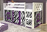 Donco Kids 79 in. Twin Circles Low Loft Bed-Zebra Tent 721803, White Review