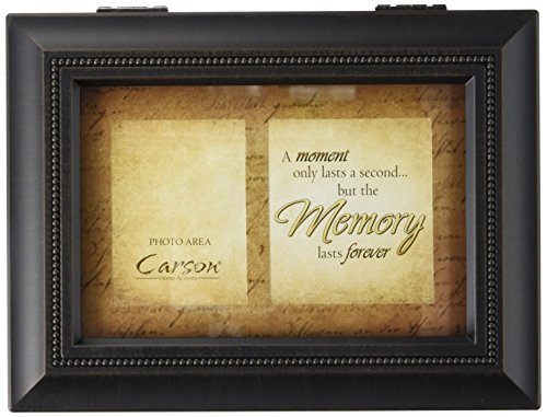 Carson Home Accents 17949 Moment Memories Bereavement Music Box, 8-Inch by 6-Inch by 2-3/4-Inch