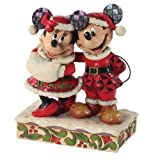 Enesco Disney Traditions by Jim Shore Santa Mickey and Minnie Mouse Figurine, 6-Inch by Enesco Gift