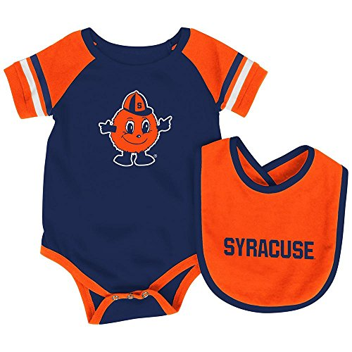 Infant NCAA Syracuse Orange Roll-out Bodysuit and Bib Set - 0 to 3 Months