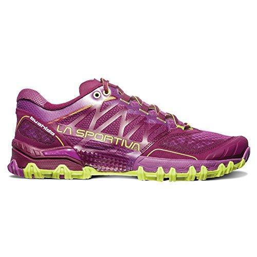 La Sportiva Women's Bushido Trail Running Shoe, Plum Apple Green, 39 B EU