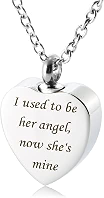 7Morning Cremation Urn Jewelry My Nephew My Hero Angel Wings Birthstone Memorial Ash Keepsake Necklace