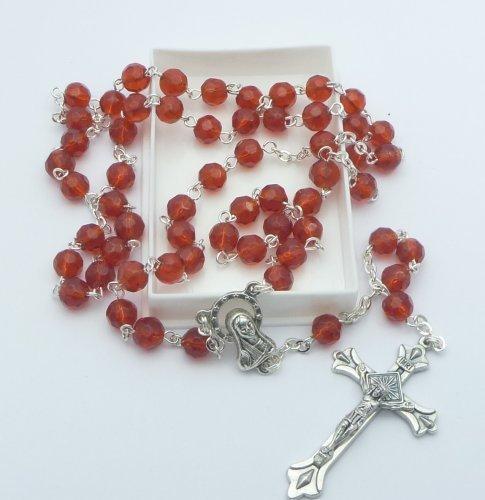 Birthstone Rosary Beads January - Garnet - Catholic Gifts