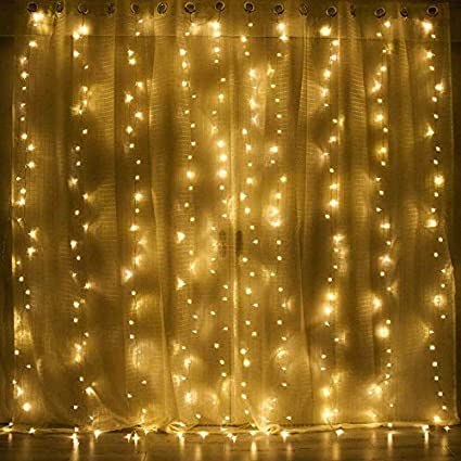 Milemont Window Curtain String Lights Fairy Twinkle Icicle Starry Lights  For Wedding Christmas Party Home Garden