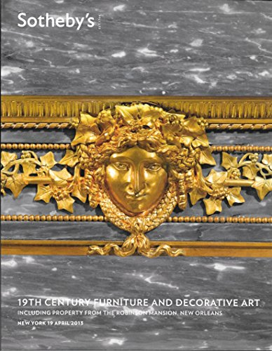 Sotheby's: 19th Century Furniture and Decorative Art, Including Property from the Robinson Mansion, New Orleans; New York; April 19, 2013; N08983 ()