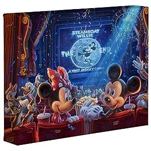 Thomas Kinkade Studios Disney 90 Years of Mickey 8″ x 10″ Gallery Wrapped Canvas