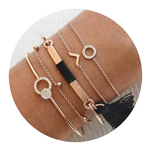 Mix Turtle Heart Pearl Wave LOVE Crystal Marble Charm Bracelets Women Boho Tassel Bracelet Jewelry,3103