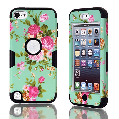 iPod Touch 5 Case, iPod Touch 6 Case Betty Printed Design 3in1 [Full-body Shockproof] Hard PC+ Silicone Hybrid Shock Absorption Rubber Bumper High Impact Defender Slim Fit Protective Case Combo Cover