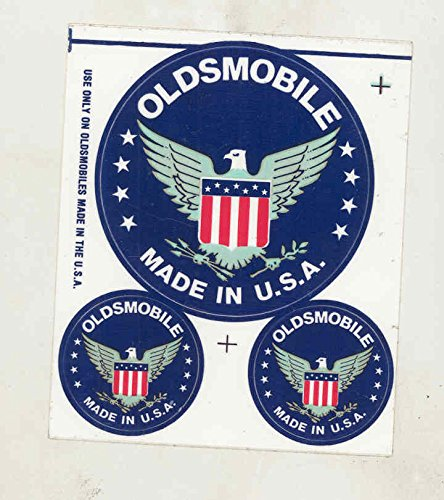 1970-1980s Oldsmobile Made in USA ORIGINAL Factory Sticker Set