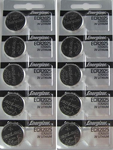 Energizer CR2025 3V Lithium Coin Battery 10 Pack (2 packs of 5) (Fitbit Zip Best Price)